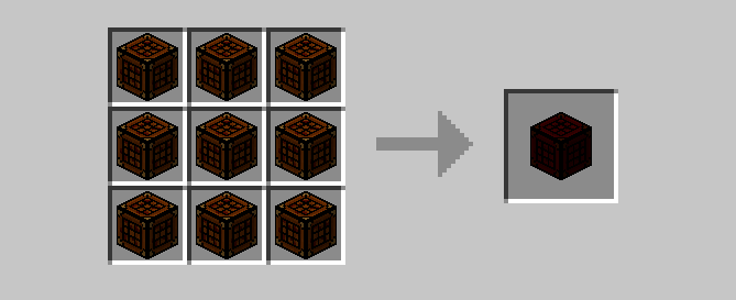 Double Compressed Crafting Table