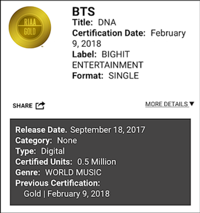 파일:bts_dna_riaa_gold_180209_400427_01.png