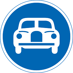 파일:Japanese Road sign (Vehicles Only).png