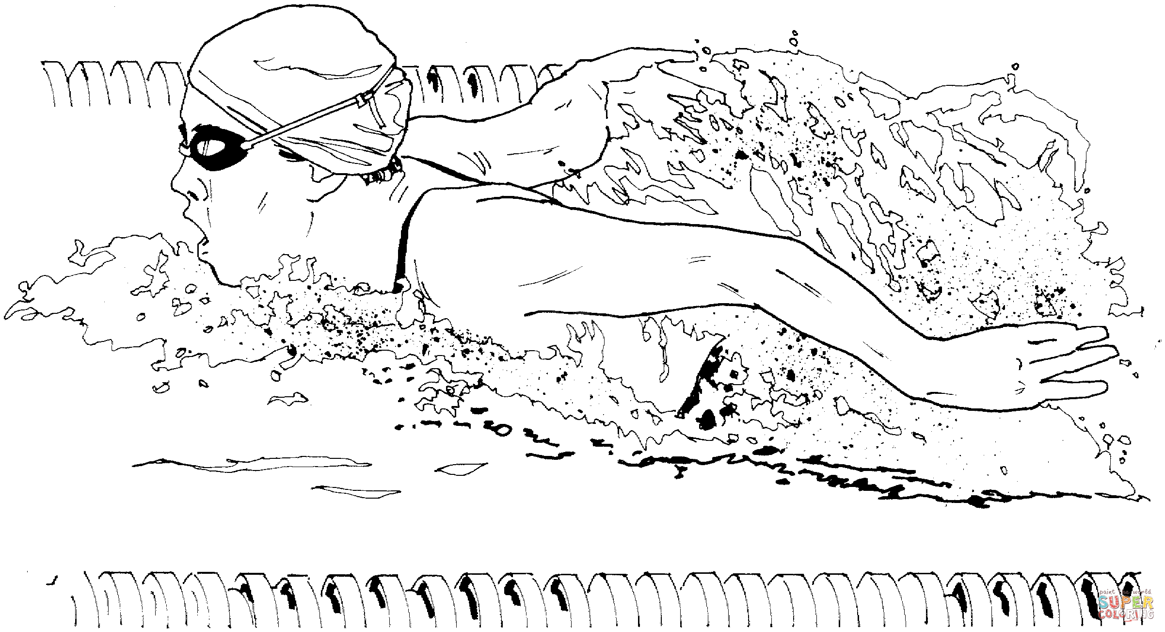 girl swimming coloring sheets pages - photo#48