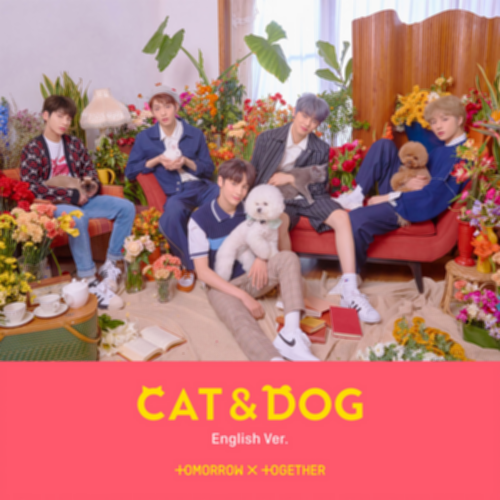 파일:TXT_Cat_&_Dog_(Eng_Ver.)_Album_Cover.png