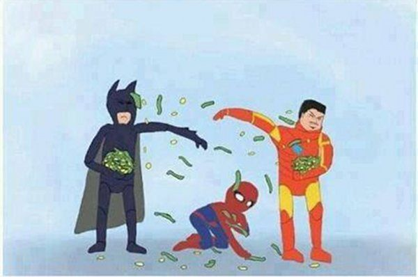 파일:attachment/돈지랄/iron-man-vs-batman-vs-spiderman.jpg